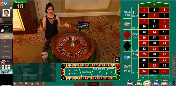 アジアゲーミング ルーレット パイザカジノ